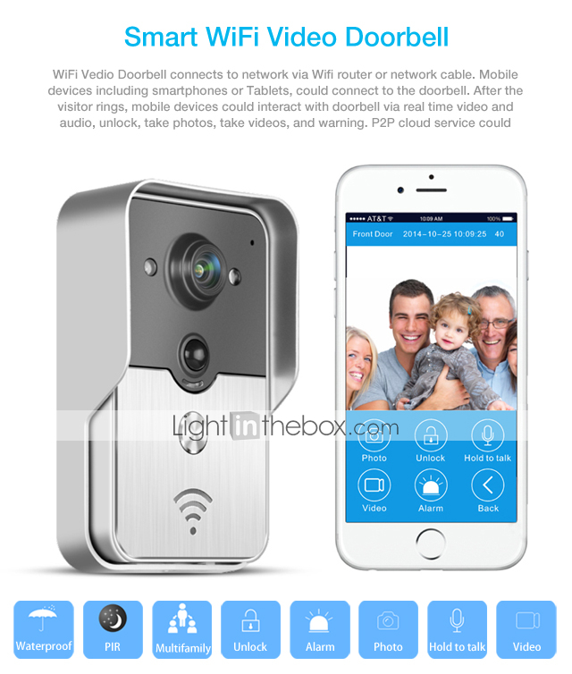 Home Security 2.4g Wireless Video Door Phone Intercom Doorbell Camera With 7lcd Monitor Access Control Structural Disabilities Free Shipping Door Intercom Security & Protection