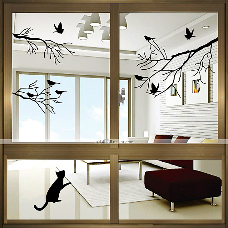 Animal contemporary door sticker material window decoration dining room bedroom office kids room living room bath room shop cafe kitchen 4236270 2018