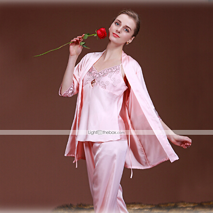 201509: Women's Suits Satin & Silk Robes Lace Lingerie Babydoll