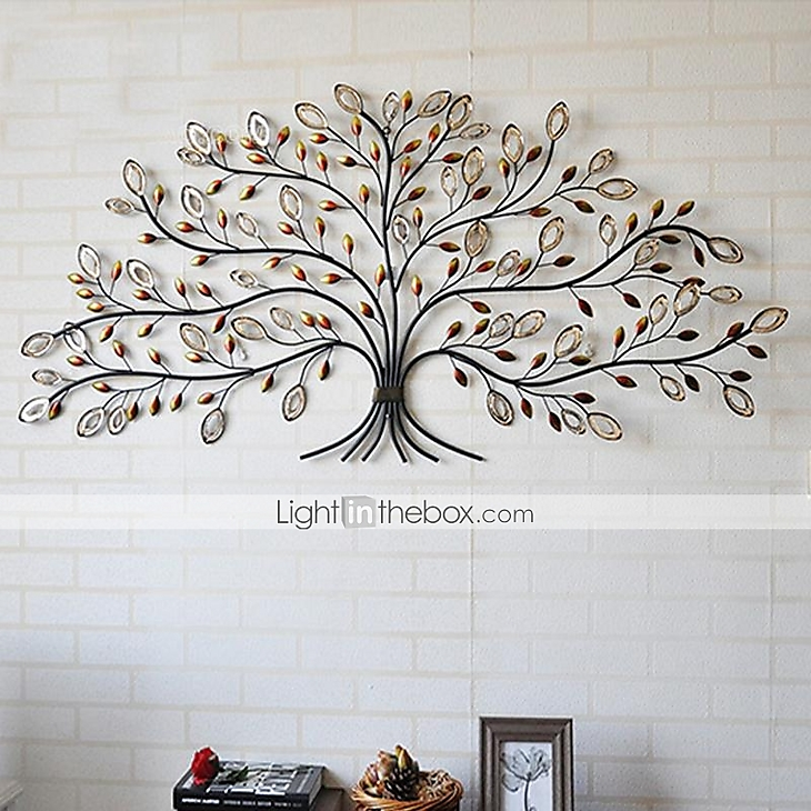 E home metal wall art wall decor tree pattern wall decor for Decor mural metal