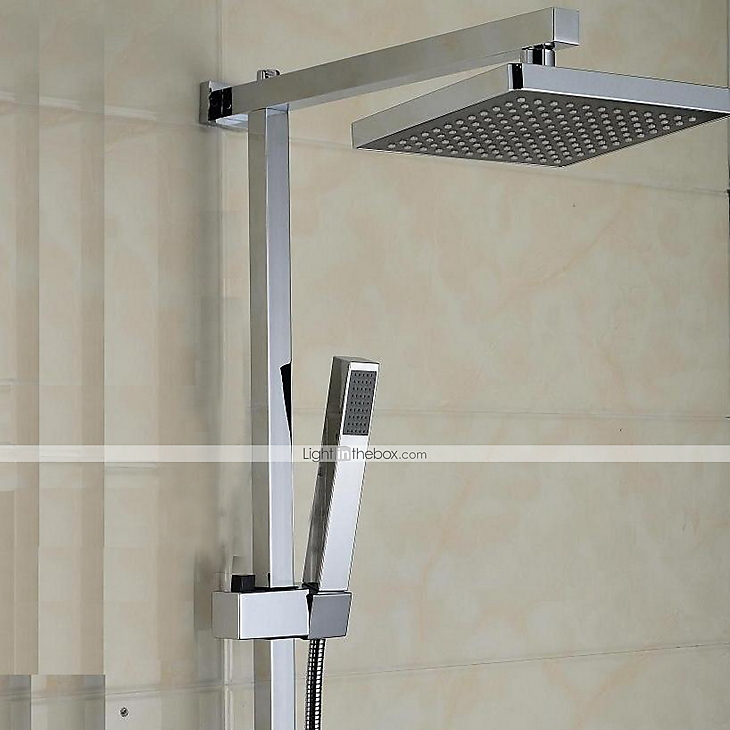 Contemporary Modern Shower System Waterfall Handshower Included ...