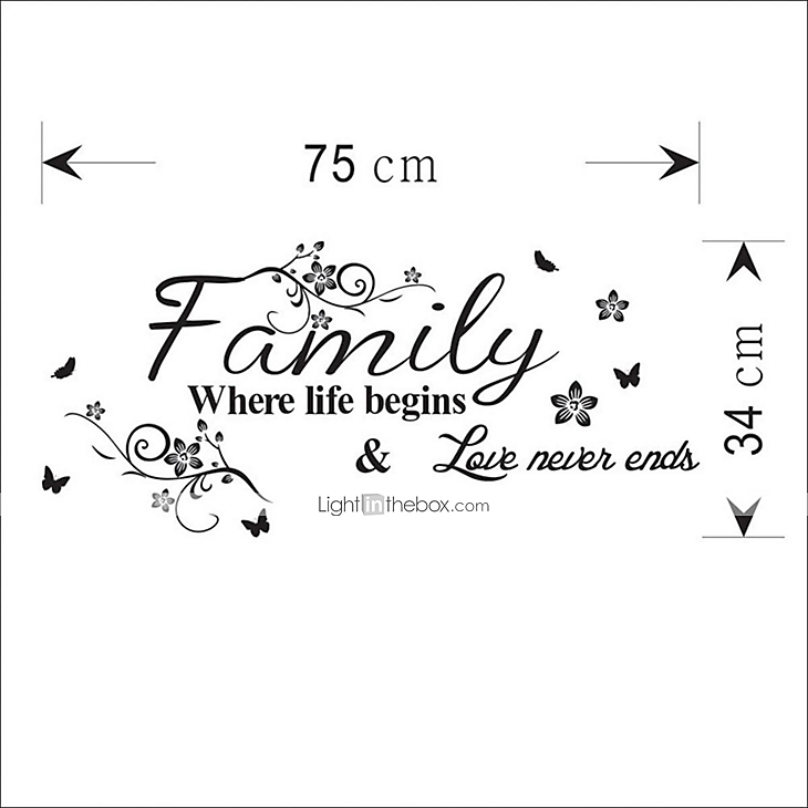 Words Quotes Wall Stickers Plane Wall Stickers Decorative Wall