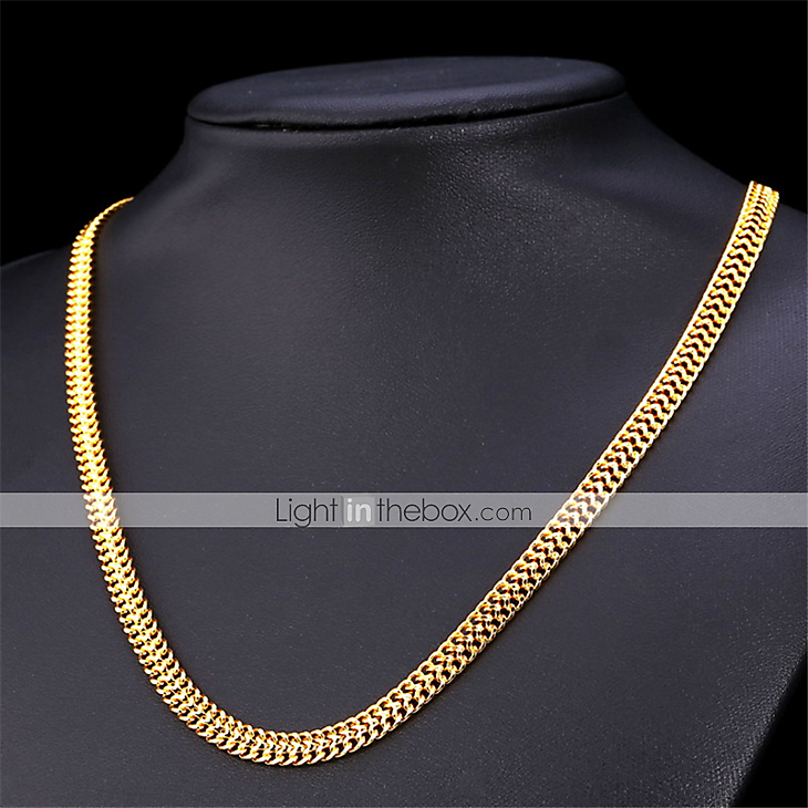 U7® Men\'s 18K Stamp Gold Chain for Men Jewelry Fancy Necklace ...