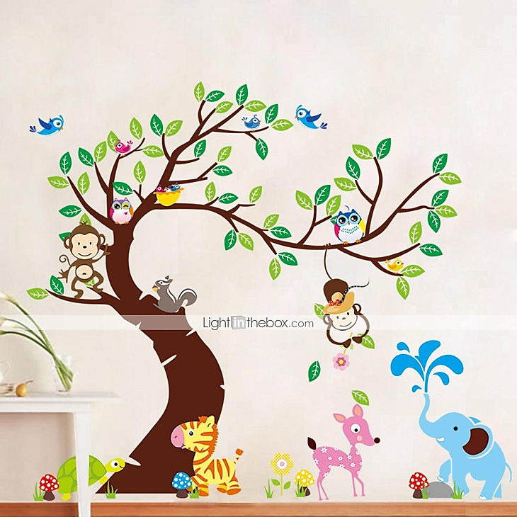 decorative wall stickers - plane wall stickers landscape living room