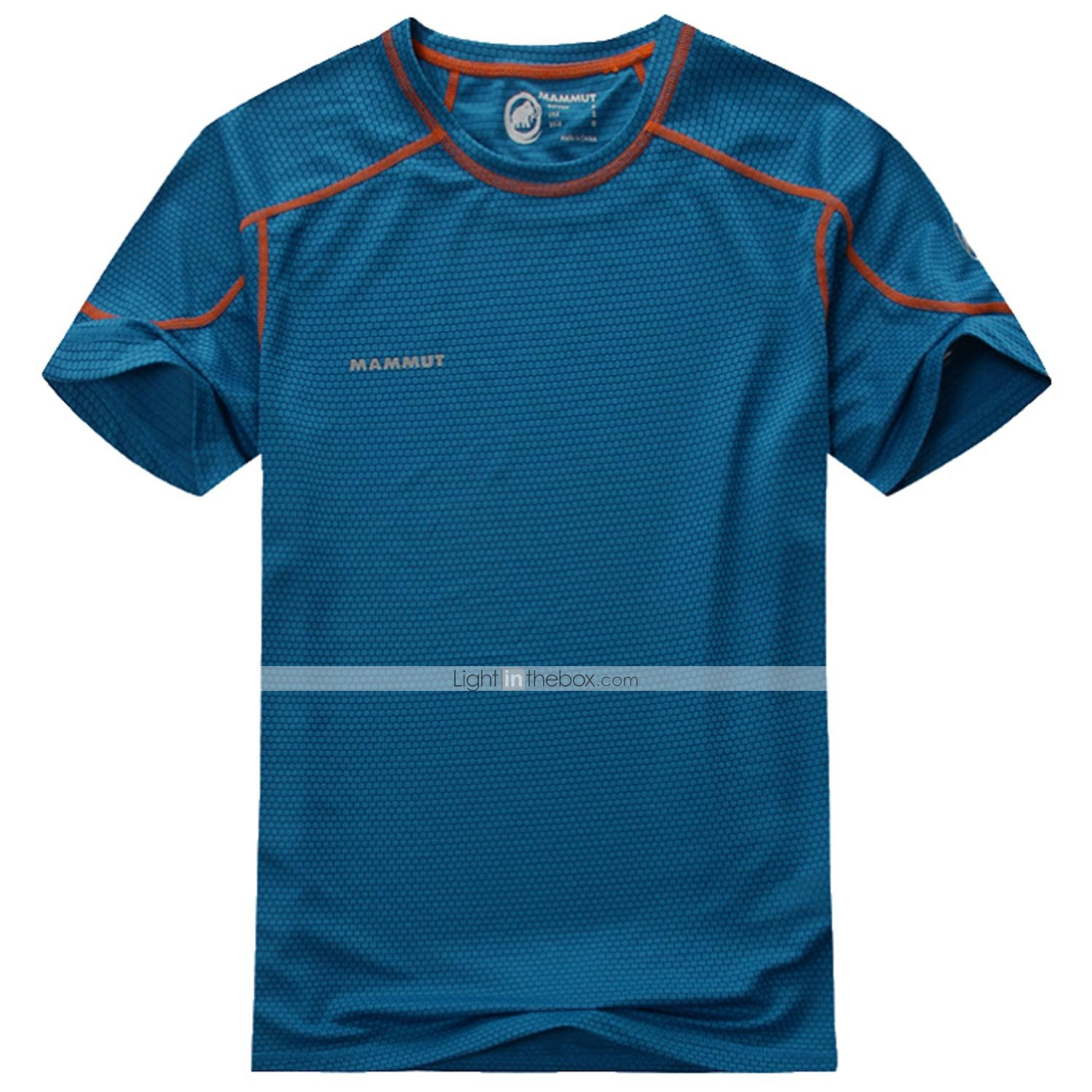 f7dc964a2da9 Men s Short Sleeves Running T-shirt Tops Quick Dry Ultraviolet Resistant  Wearable Breathable Soft Static-free Sweat-wicking smooth Summer  04807120