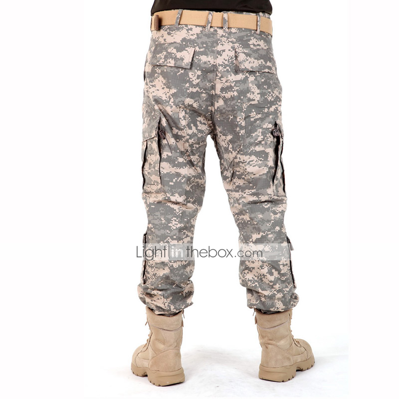 649a7b7c4675f Men's Camouflage Hunting Pants Windproof, Thermal / Warm, Breathable Shirt,  Top for Camping / Hiking, Hunting, Fishing L XL XXL #04978516