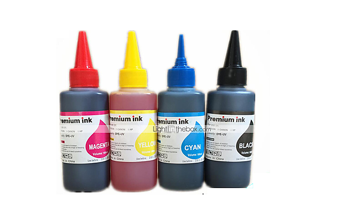 Epson Color Printer Ink,A Pack Of 6Boxes, Each Box Different Colors,Black,  Red, Yellow, Blue, Light Blue, Light Red