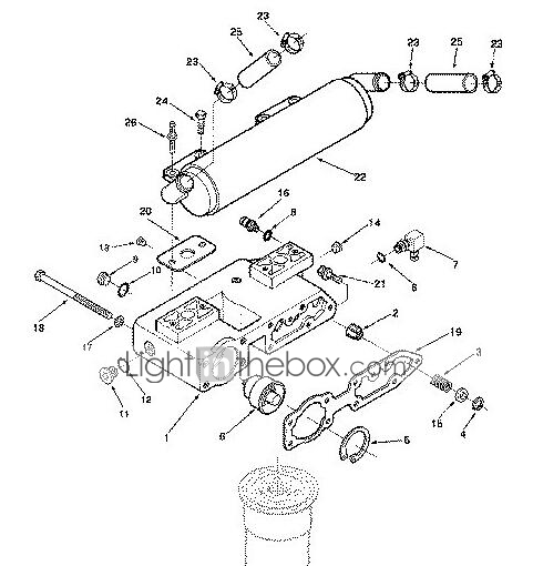 Special Purpose Vehicle Use 3820332 Oil Filter Seat Of The Oil