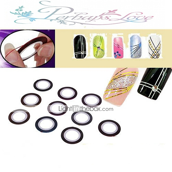 Nail Striping Tape Walmart: 30 Pcs Nail Foil Striping Tape Nail Art Manicure Pedicure