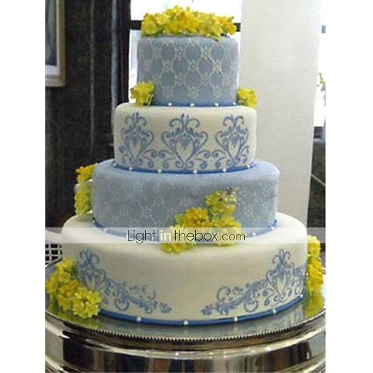 Lace Flower Cake Cookie Fondant Side Baking Stencil Wedding Decorating Tool