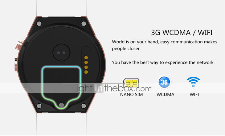 KING-WEAR® YYKW88 Men Smartwatch Android Bluetooth GPS Sports Touch