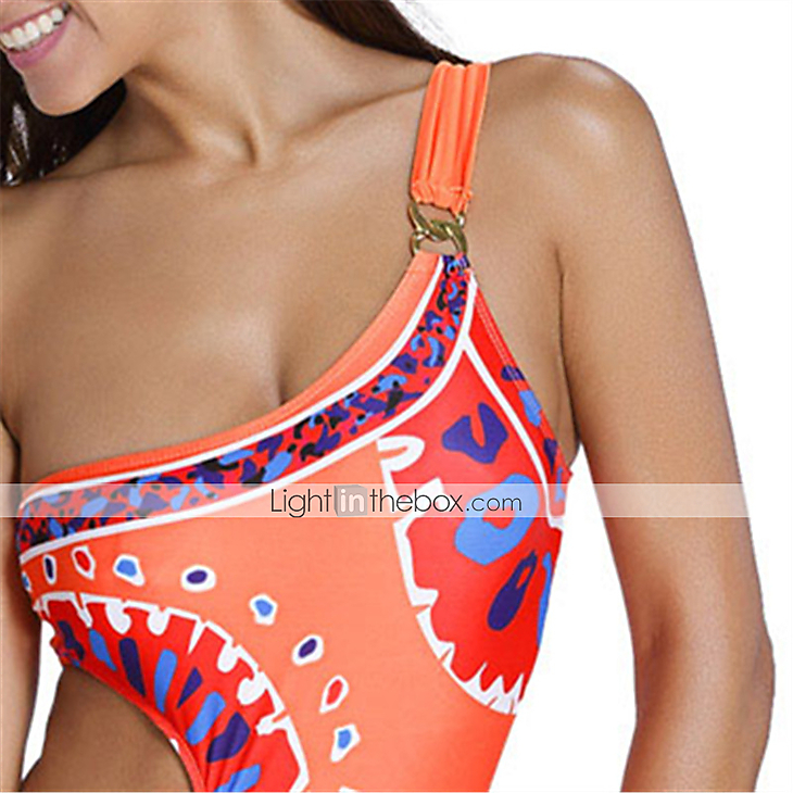 fcf21fcbcc Women's Orange Trina Turk Yucateca One Shoulder One Piece Swimwear ...