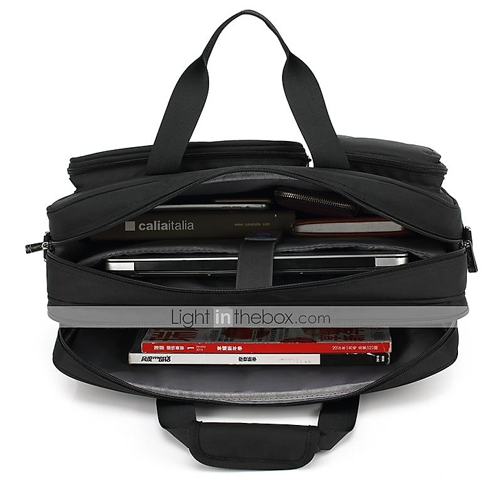 78494f2d0d46 CoolBell 17.3 Inch Laptop Messenger Bag Multi-functional Briefcase ...