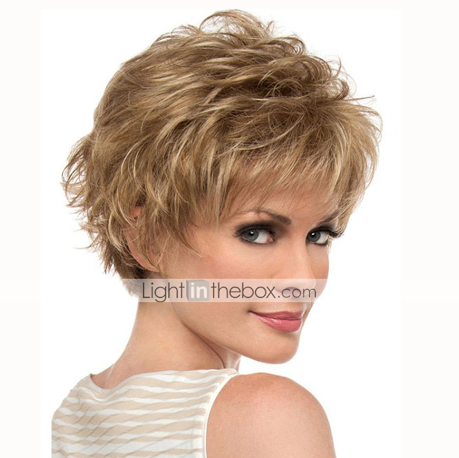 Synthetic Wig Curly Minaj Style Pixie Cut