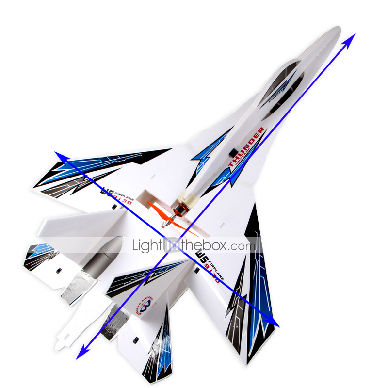 Glider RC 4CH RC Airplane Blue Some Assembly RequiredRemote