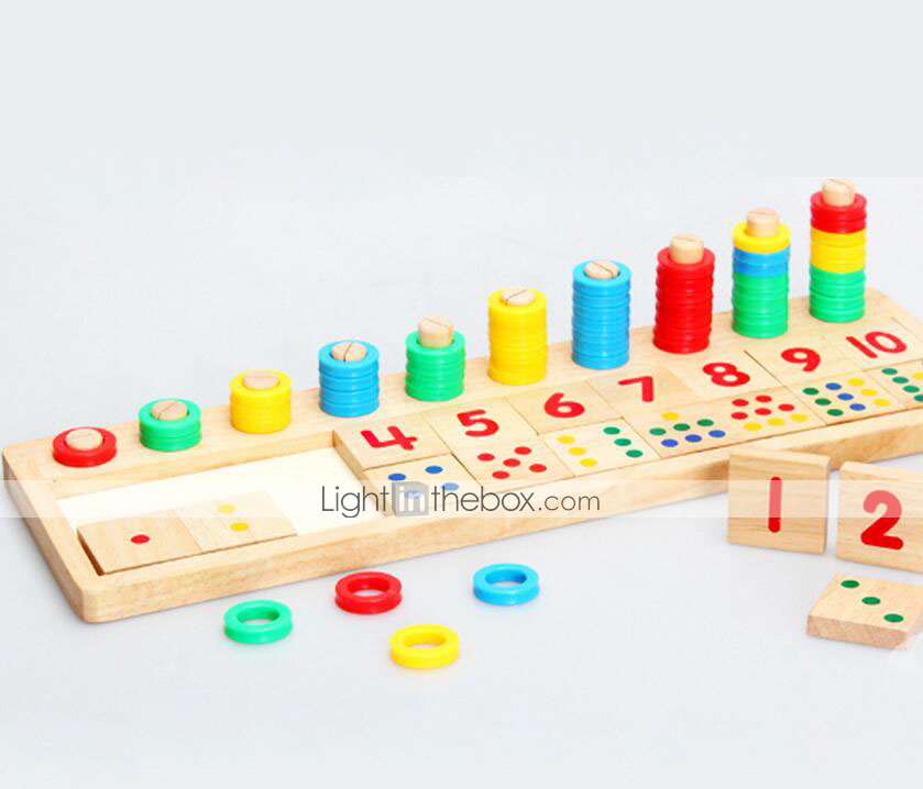 Educational Toy Montessori Math Learning Toy For Kids Figure Fun Block Number Montessori Game Home