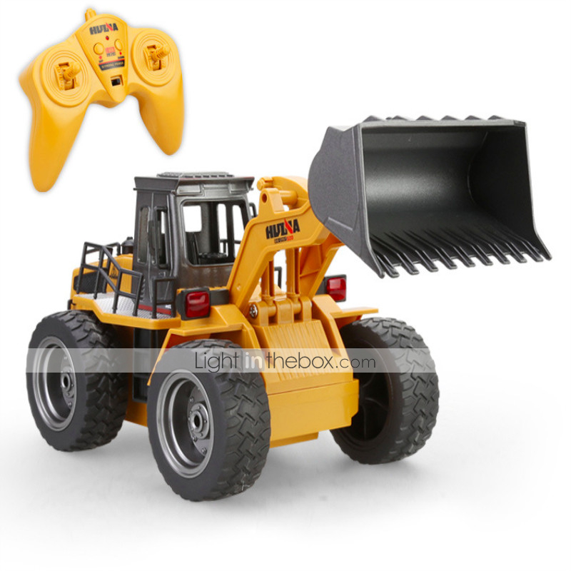 QA/_ 8 Channel LED Flashing Light Music Rechargeable RC Excavator Kids Toy Late