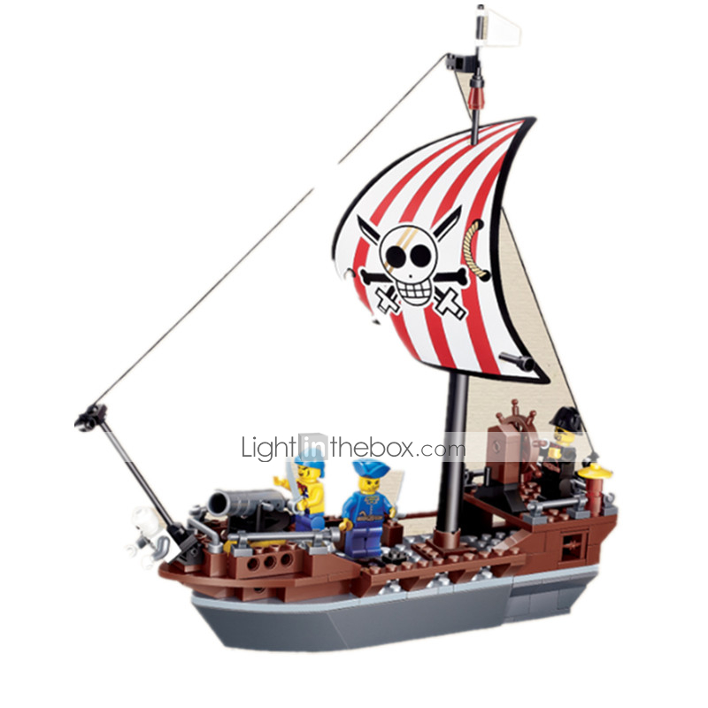 JIE STAR Building Blocks Block Minifigures Model Building Kit Construction  Set Toys Educational Toy Pirate Duck Ship Pirates Unisex Boys' Girls' Toy