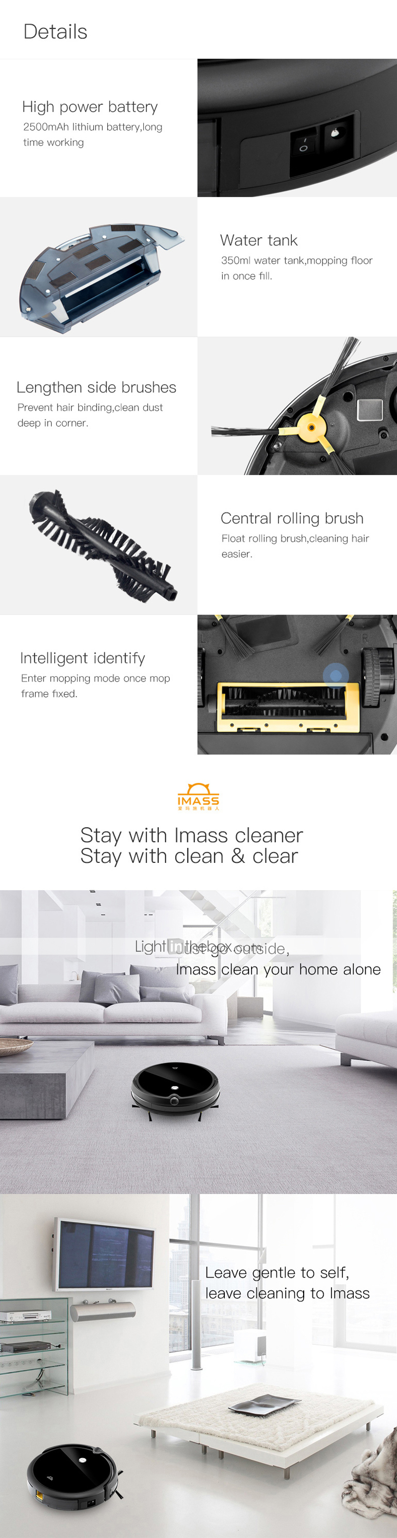 Robot Vacuum A3SWet Dry Mopping Remote Control Self Recharging Schedule Cleaning