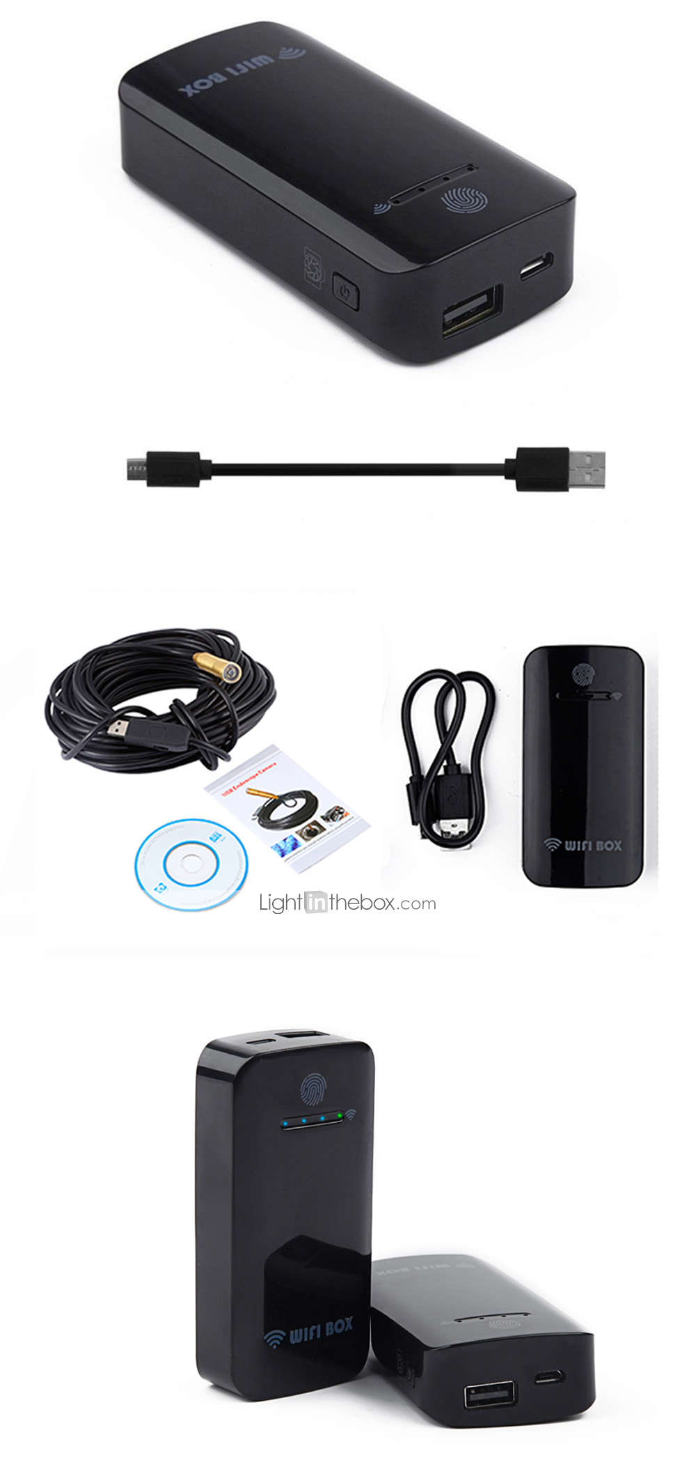 WIFI Endoscope 14 5MM Lens 15M Cable Waterproof IP67 Android