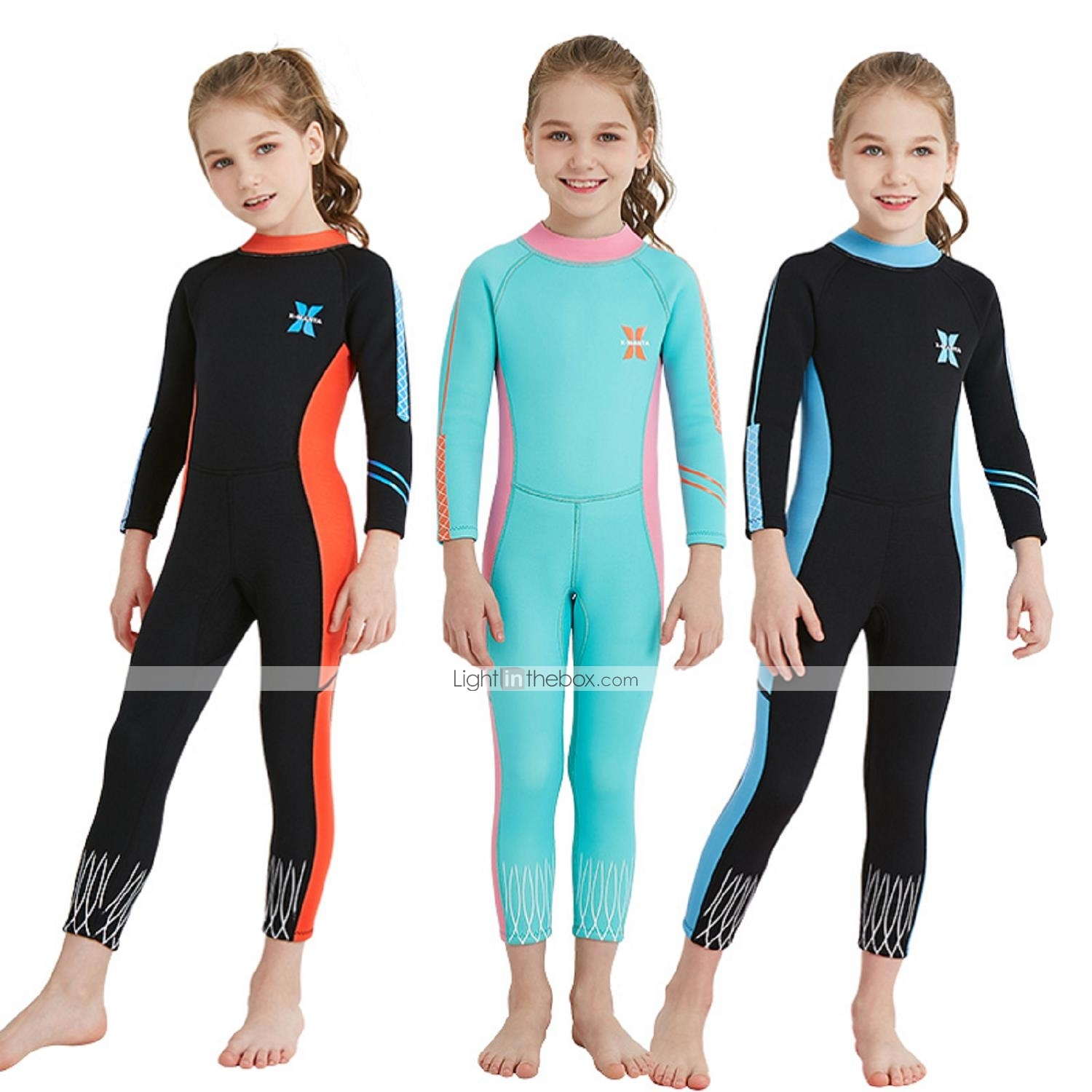 Girls  Full Wetsuit 2.5mm Spandex   SCR Neoprene Diving Suit   Sun ... 2931b0d96