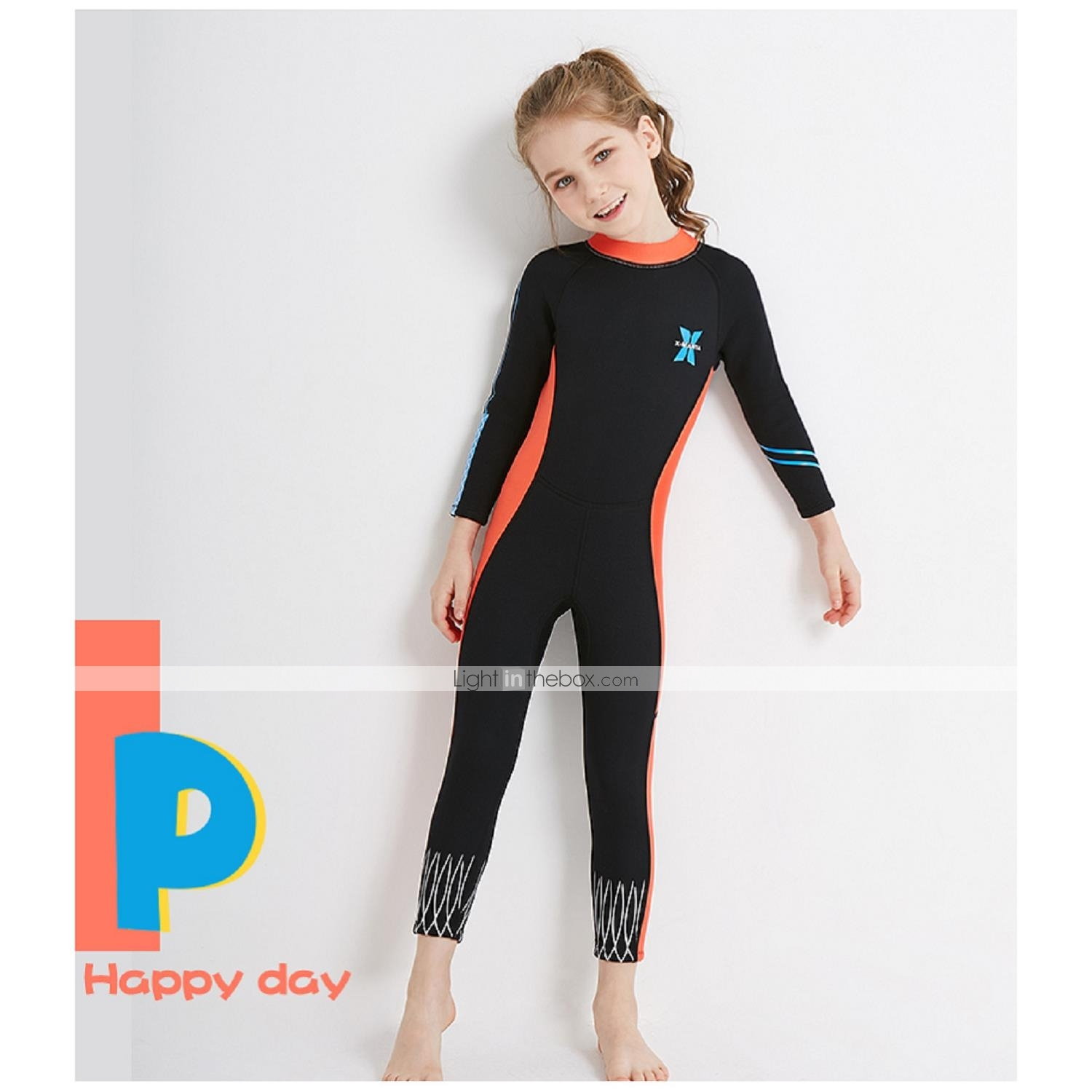 Girls  Full Wetsuit 2.5mm Spandex SCR Neoprene Diving Suit Sun Shirt ... 2163d22b1
