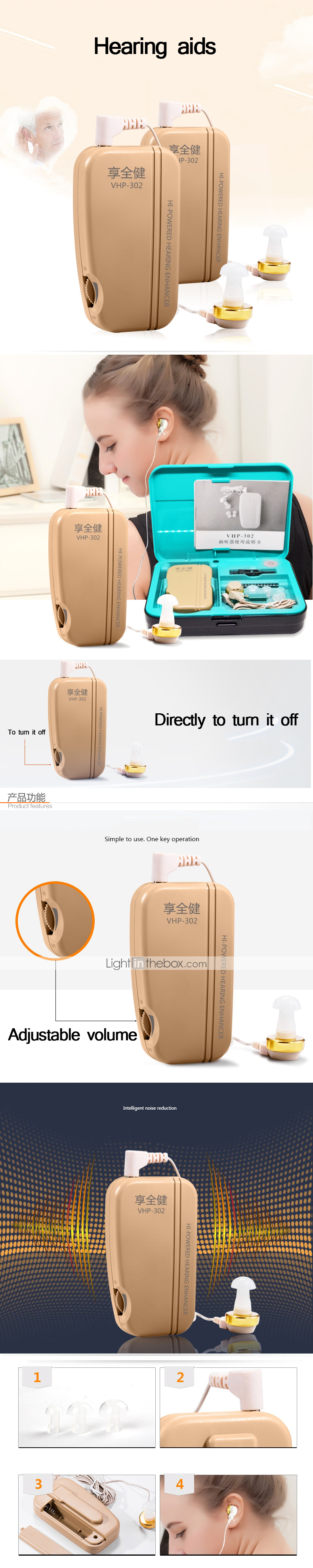 Factory Oem Ear Care Vhp 302 For Men And Women Mini Style Power Aid Vhp221 Productschina Bte Digital Hearing Amplifier Photos