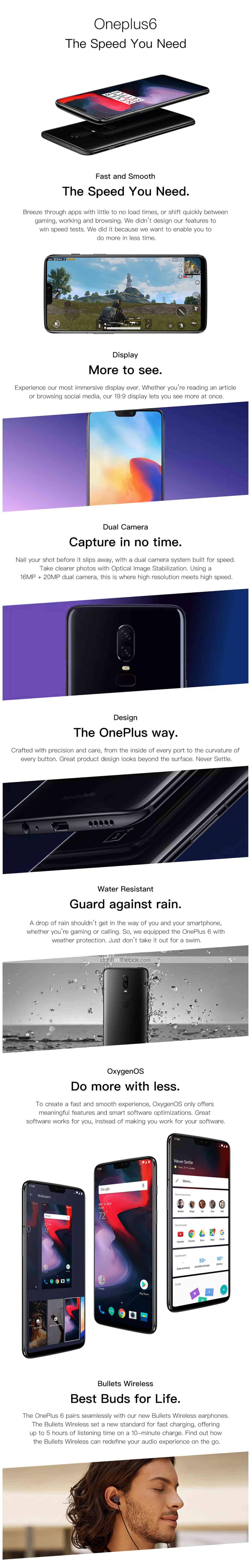 Oneplus 6 628 Inch 4g Smartphone 8gb 128gb 20 16 Mp Snapdragon Asus Zenfone 3 Zoom S Ze553kl Lte 55ampquot 4 64gb Photos
