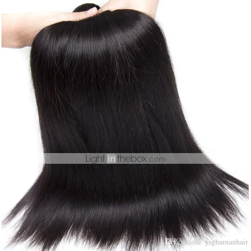6 Bundles Peruvian Hair Straight Human Hair Natural Color Hair