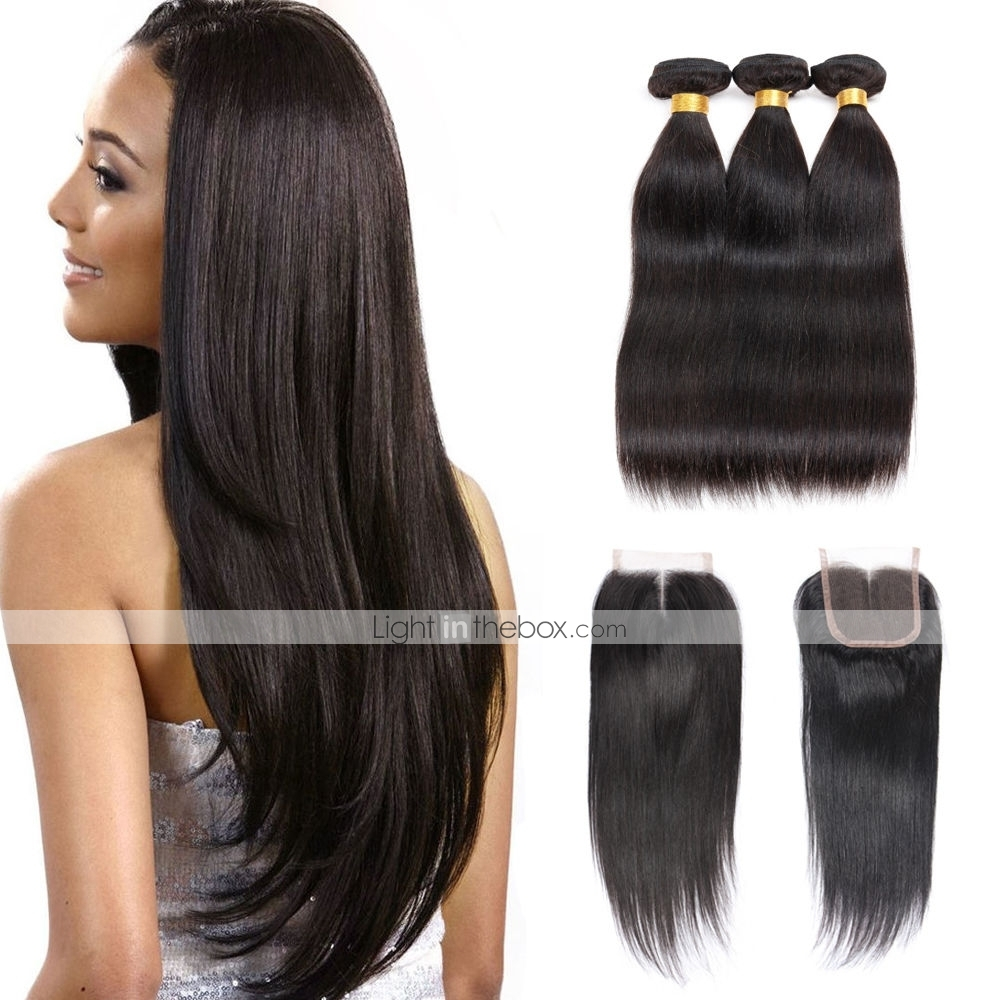 Brazilian Hair Straight Natural Color Hair Weaves Extension Hair