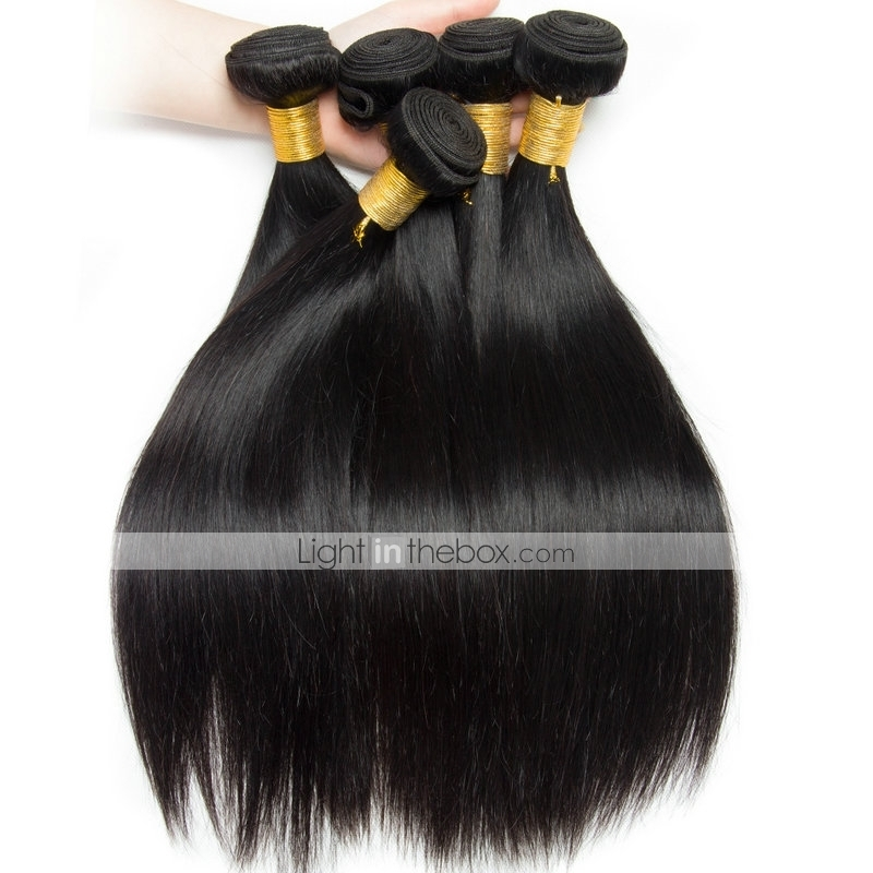 Brazilian Hair Straight Natural Color Hair Weaves Extension 6