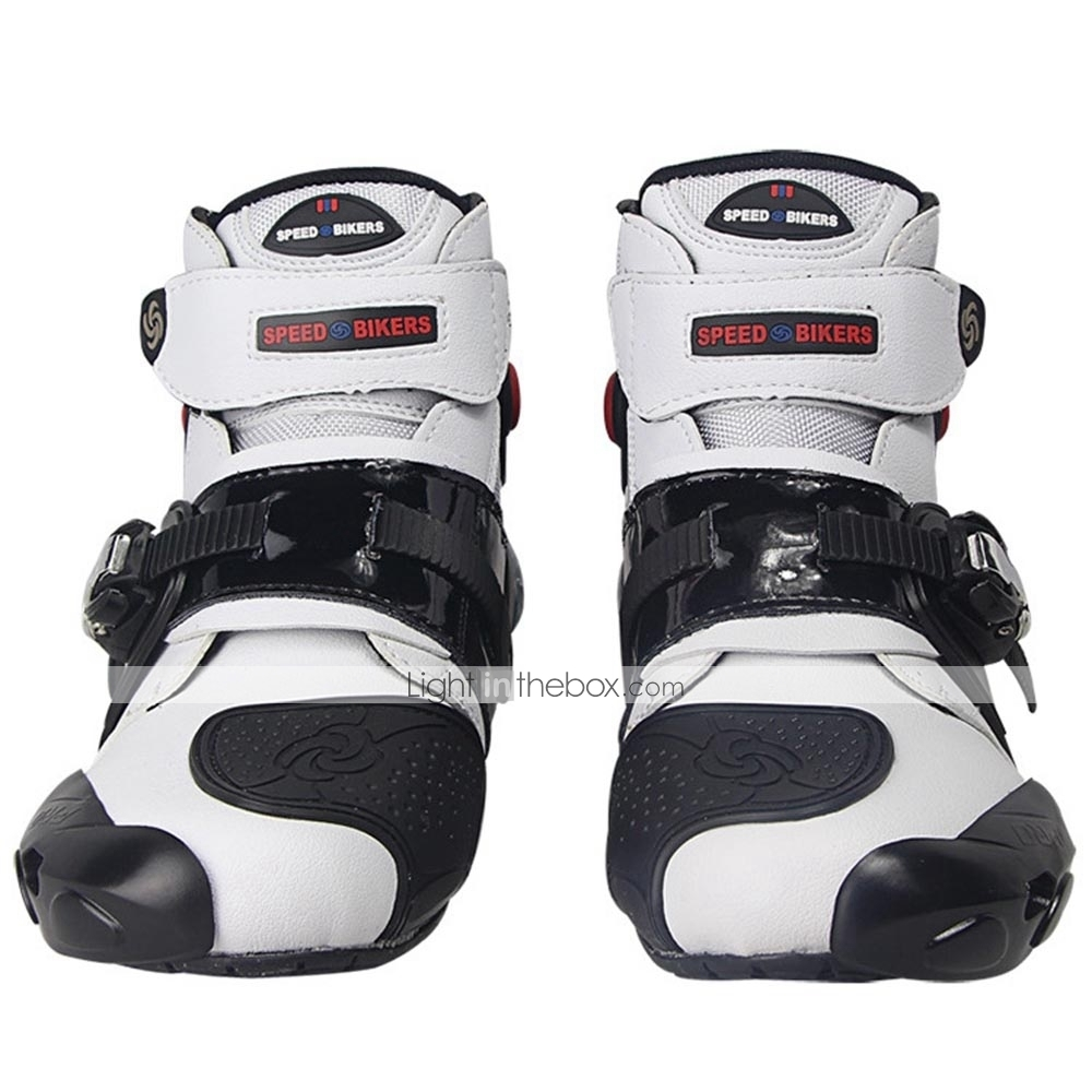 a73938509d5586 Riding Tribe Professional Motorbike Motorcycle Boots Motocross Racing Boots  Waterproof Biker Protect Ankle Moto Shoes - White  06884601