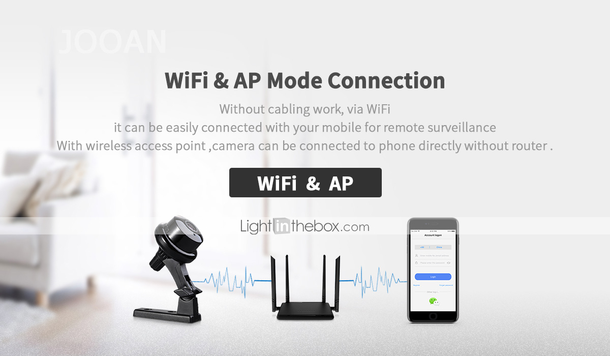 button 720P HD IP Camera WiFi Video Monitoring Supports Two