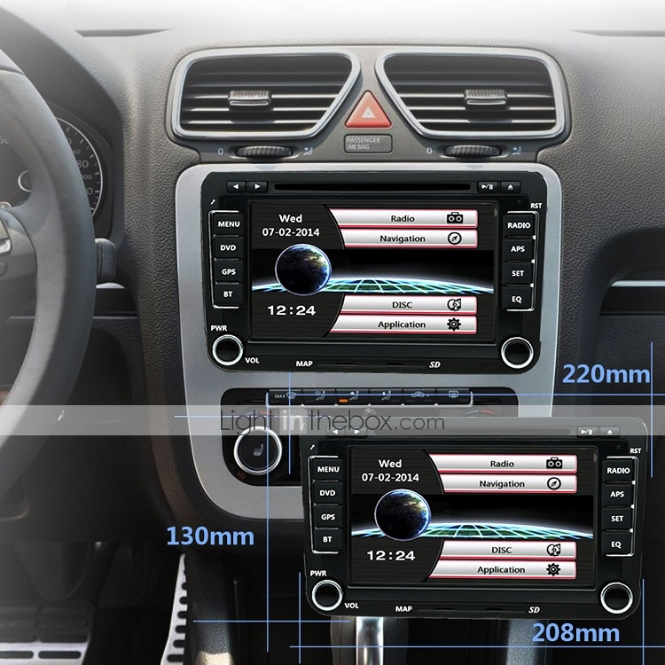 520WGNR04 7 inch 2 DIN In-Dash Car DVD Player Touch Screen