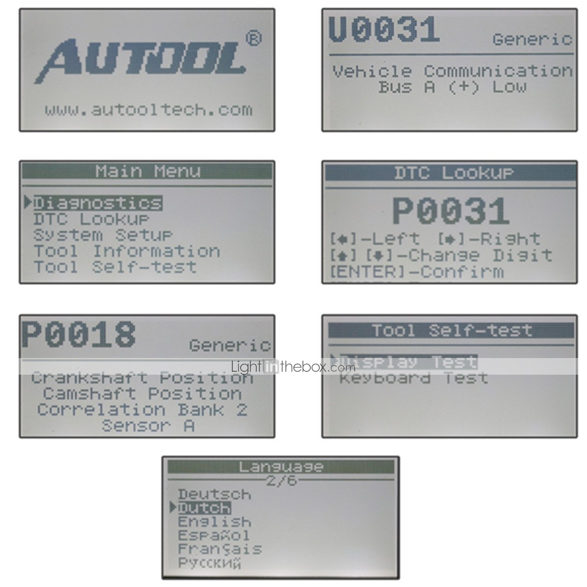 AUTOOL CS320 OBDII Car Vehicle Code Scanner Engine Fault