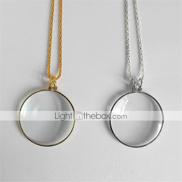 Chain Magnifier 5X Pocket Magnifier Life Tree Pendant Necklace Magnifier Portable Reading Magnifying Glass Vintage Circular Loupe for Books Newspapers Maps Jewellery Crafts Hobby with Gift Box