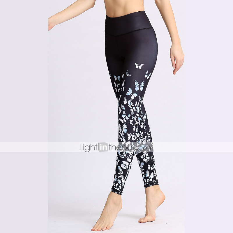 32c9ef5ebbad24 Women's Stirrup Yoga Pants Sports Camo / Camouflage Elastane High Rise  Tights Leggings Bottoms Dance Running Fitness Activewear Breathable  Moisture Wicking ...