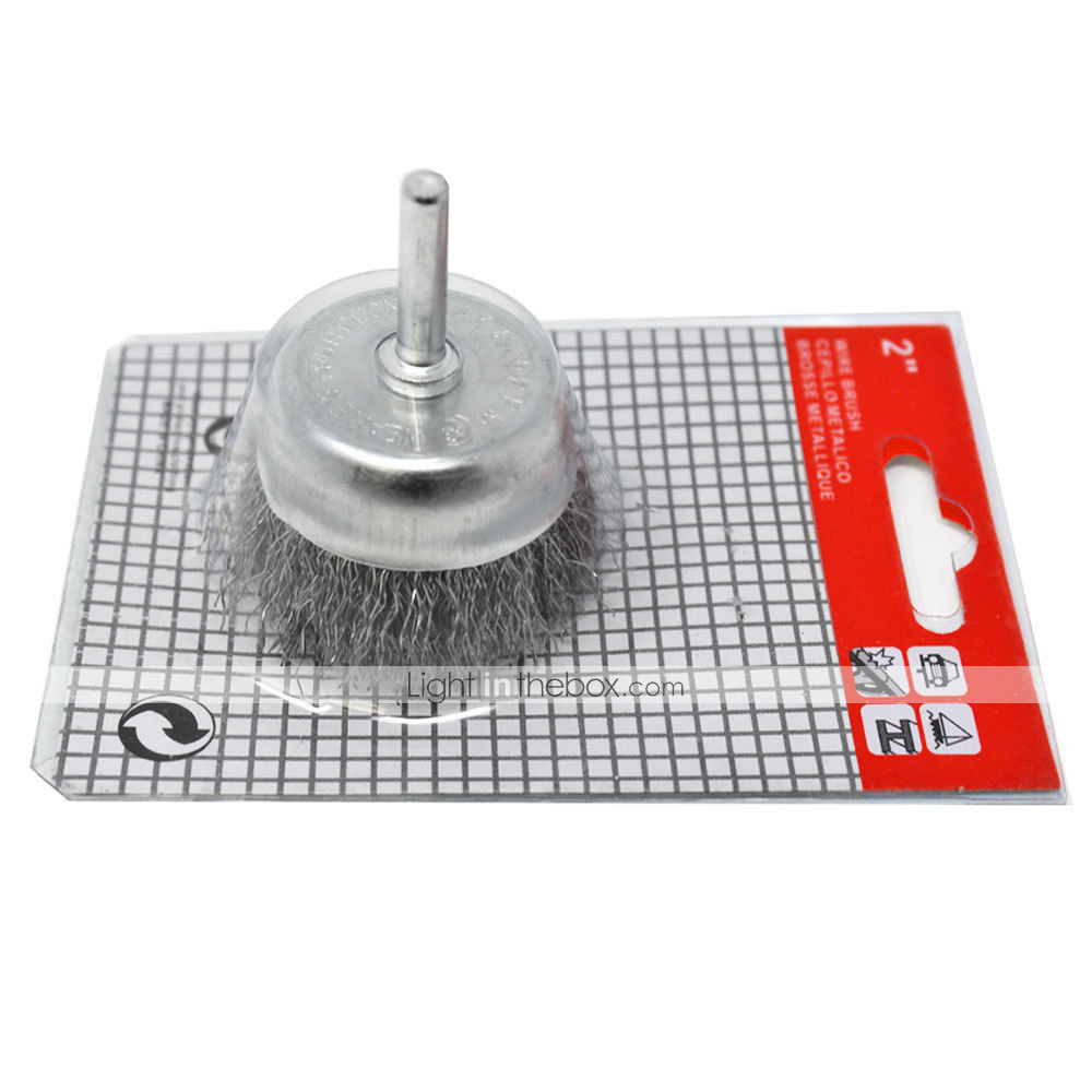 """Crimped Steel Wire Cup Brush Set 3/"""" x 1//4/"""" 1-1//8/"""" for Dewalt /& SKIL Power Drill"""