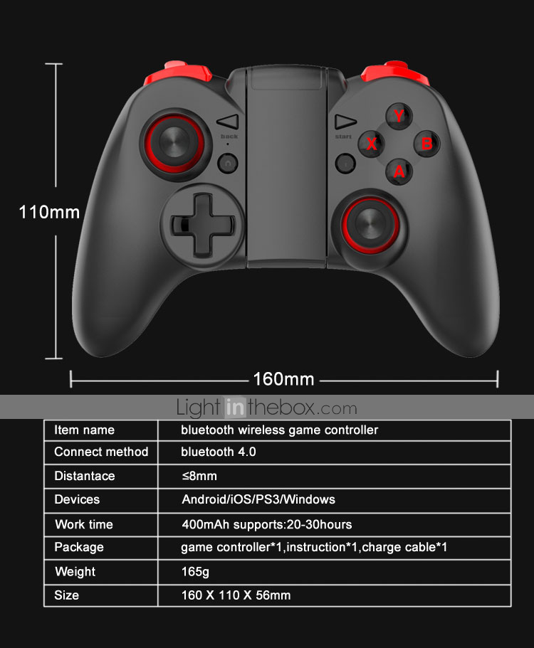 MB-838(X5Plus) Wireless Game Controllers / Controller Grip