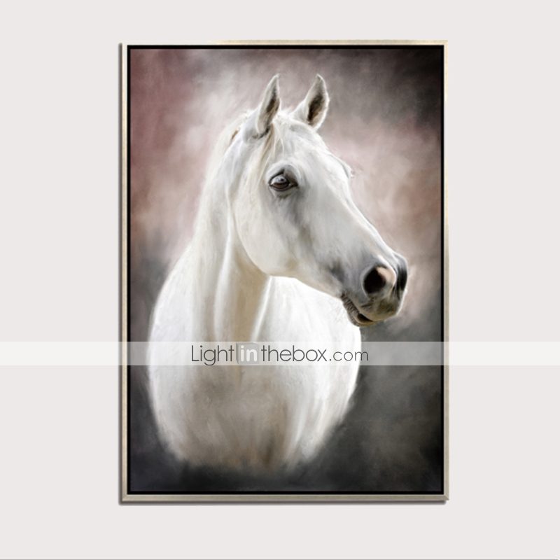 Horses animal canvas print framed photo picture wall artwork anim154