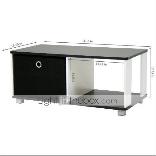 Superb Simple Black And White Coffee Table With Bin Drawer 7360189 Gmtry Best Dining Table And Chair Ideas Images Gmtryco