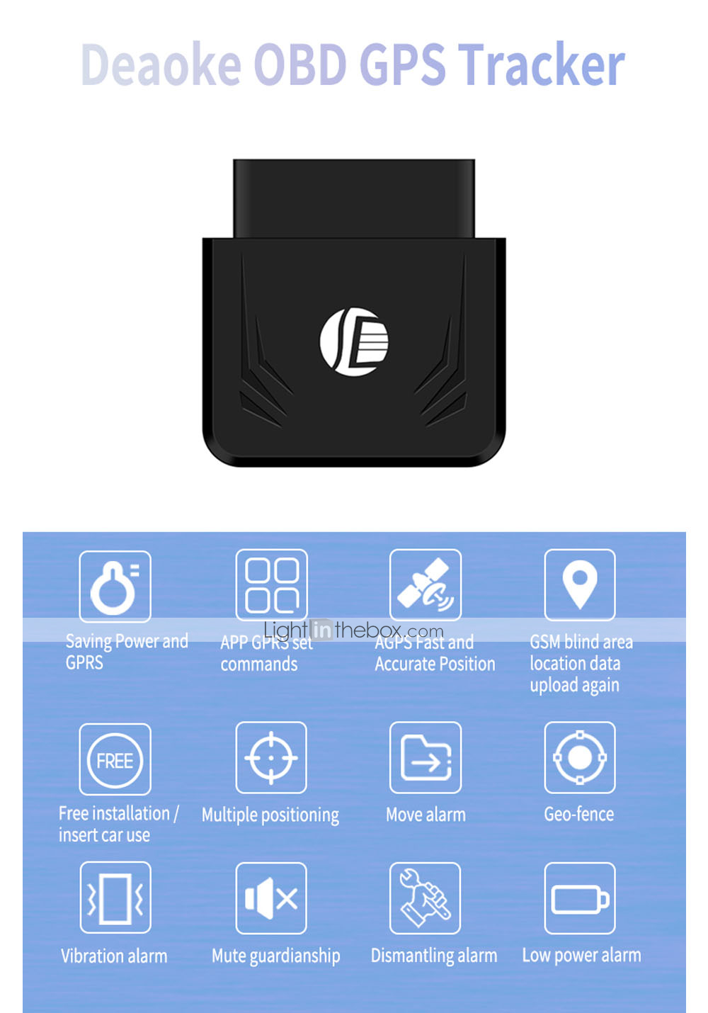 ZIQIAO Plug Play TK306 OBD GPS Tracker Car GSM Vehicle