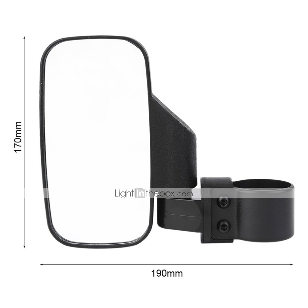 Side View Mirrors Set High Impact Break-Away Large Wide View For UTV ATV MT
