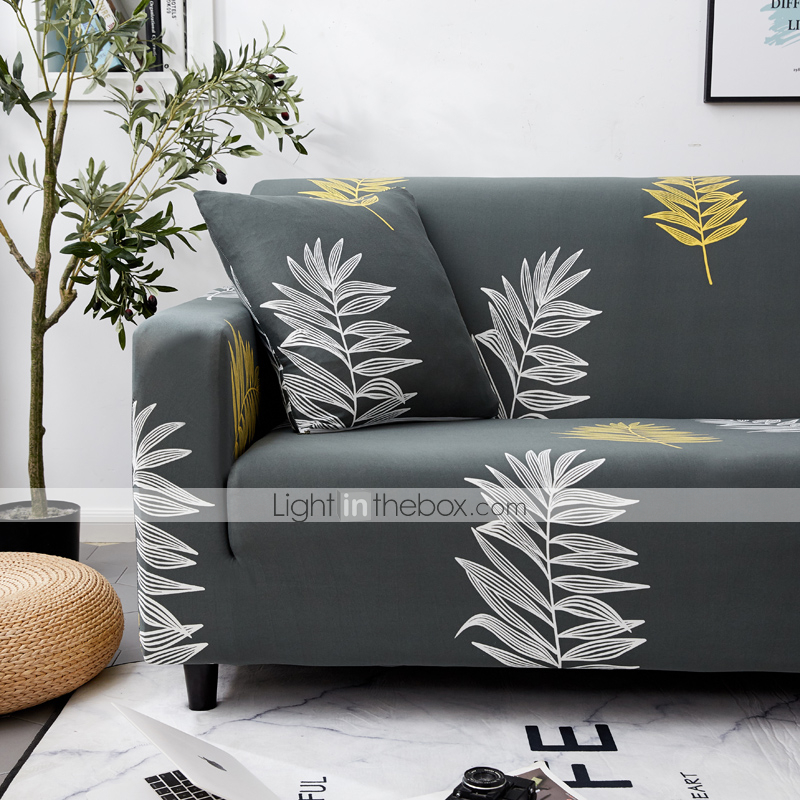 Groovy Leaves Printed Sofa Slipcover Couch Protector Spandex Gmtry Best Dining Table And Chair Ideas Images Gmtryco