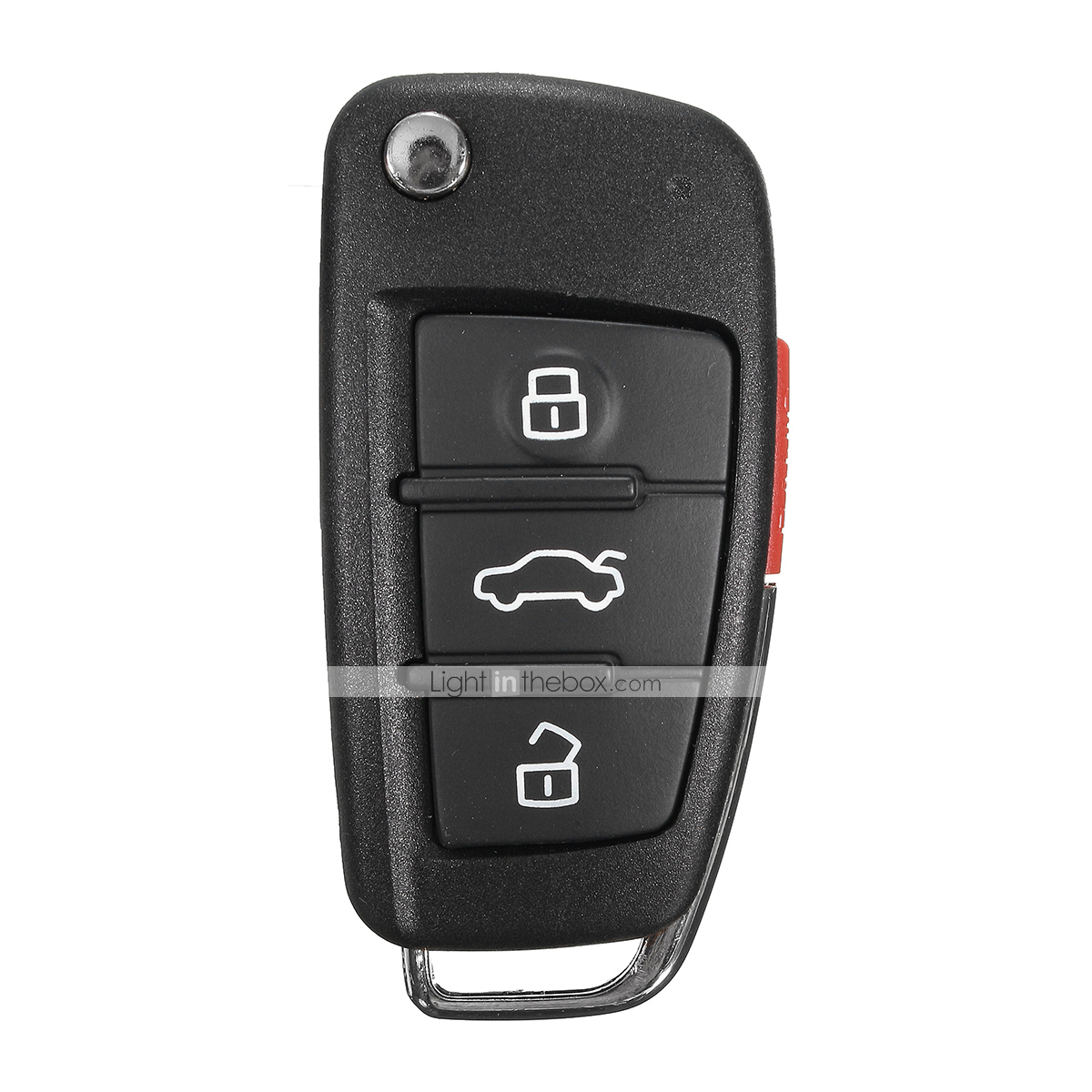 Flushzing Plastic 3 Buttons Remote Key Case Cover Replacement Key Shell for A4 A6 A8 TT