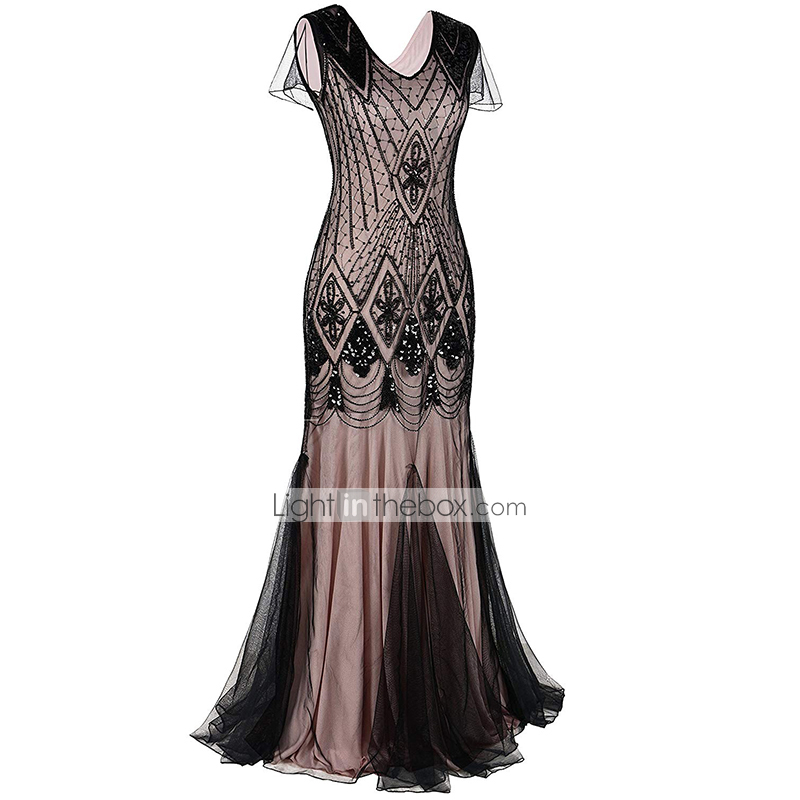 Super The Great Gatsby Charleston 1920s Flapper Dress Party Costume FF-32