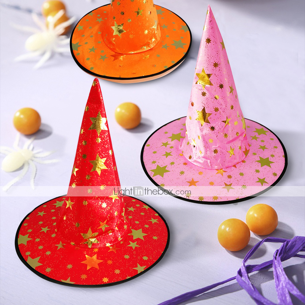 Halloween Decorations Witch Hats Caps String  Outdoor Lights Cosplay Party BA