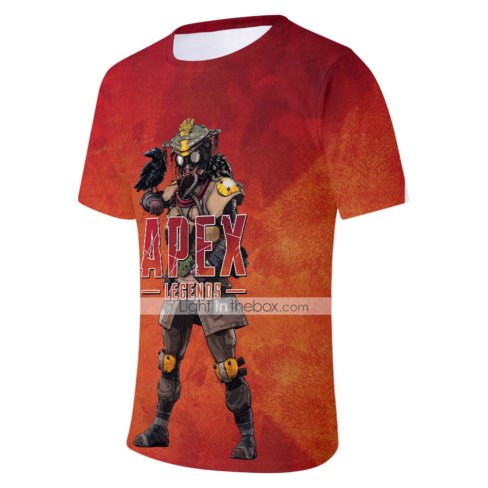 Printed Long-Sleeved T-Shirt,Digital Print Couple Comfortable Sweatshirts Exercise Fitness and Tights Sports Apex Legends