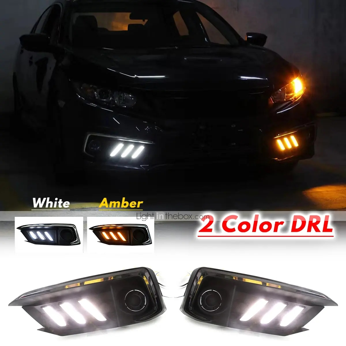 Fits Smart All Chrome High Power  L Shape DRL LED Daytime Running Lights Lamps P