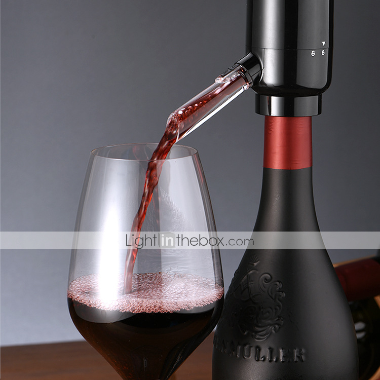 Gift for Wine Lovers Red Electric Wine Dispenser Electric Wine Aerator Decanter with Wine Pump Vacuum Stopper Automatic Wine Aerator Pourer
